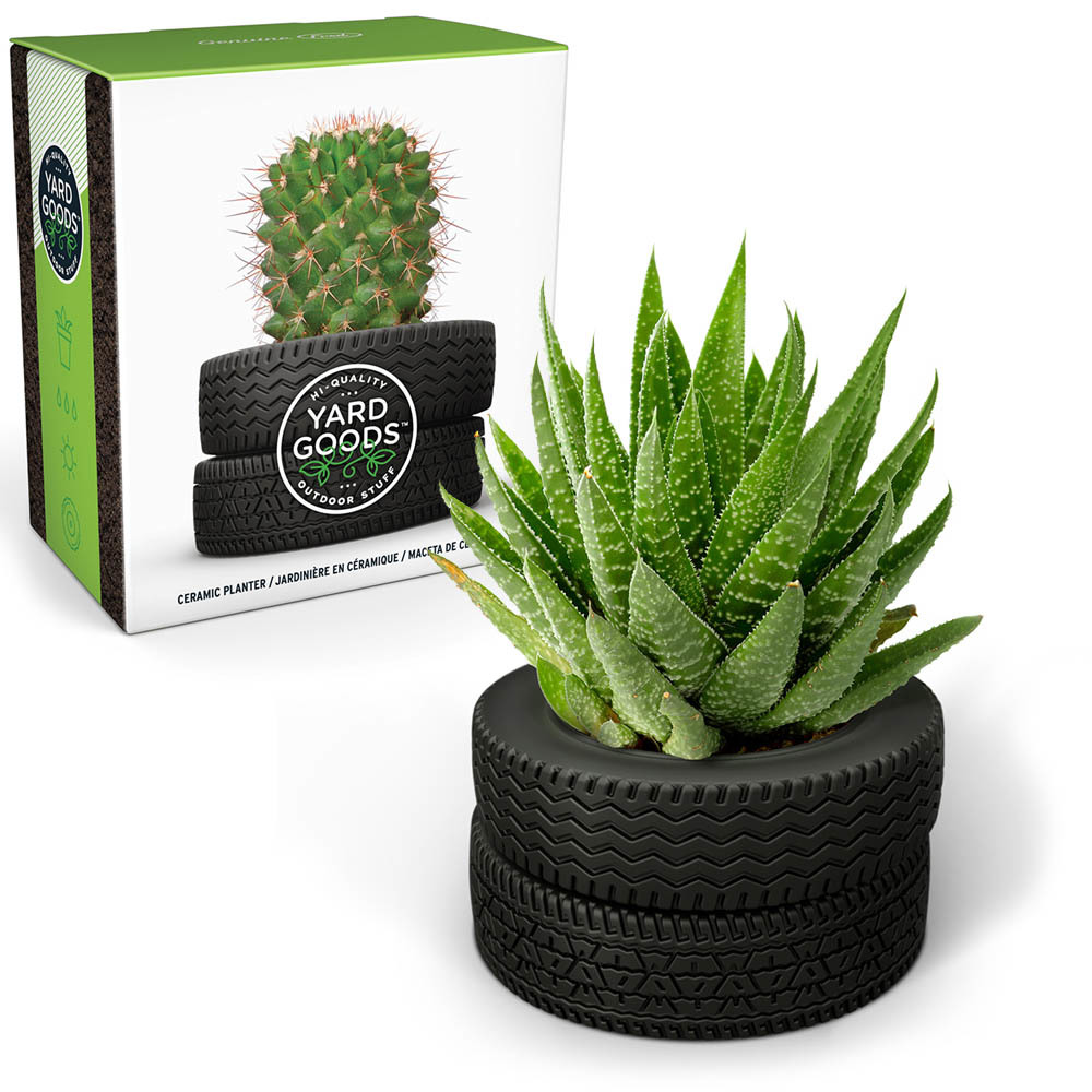Desktop Planter Yard Goods Tire Stack
